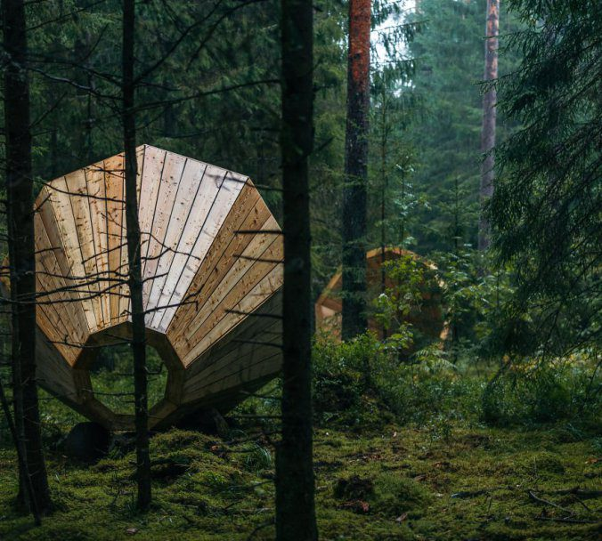 Giant Wooden Megaphones In A Forest To Amplify The Sounds Of Nature 3