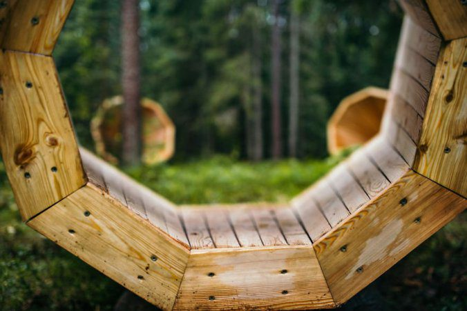 Giant Wooden Megaphones In A Forest To Amplify The Sounds Of Nature 5