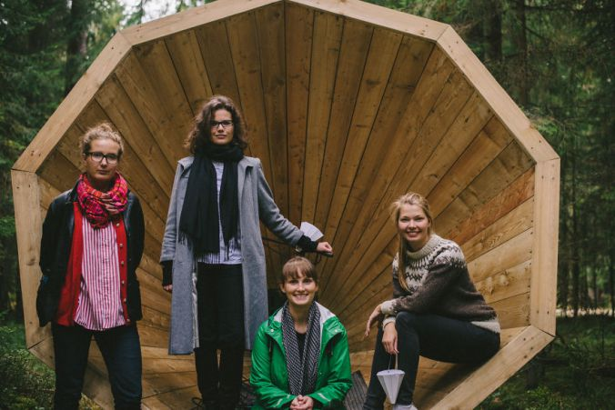Giant Wooden Megaphones In A Forest To Amplify The Sounds Of Nature 7