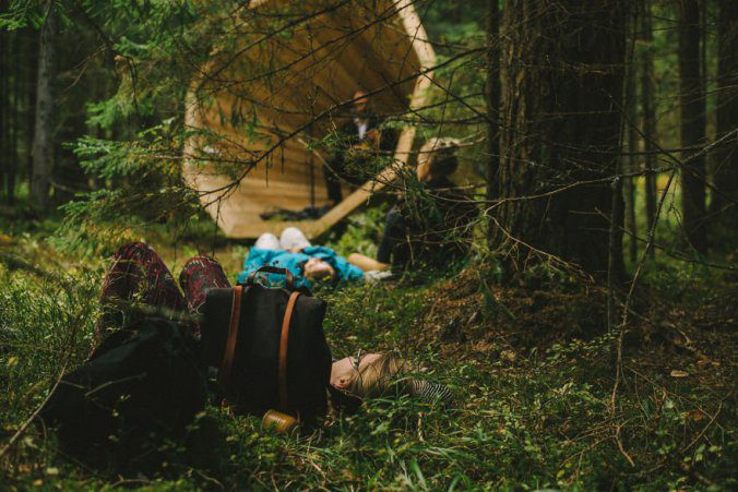 Giant Wooden Megaphones In A Forest To Amplify The Sounds Of Nature 8