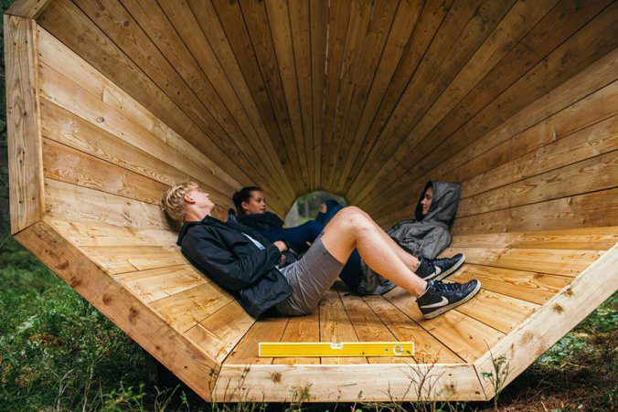 Giant Wooden Megaphones In A Forest To Amplify The Sounds Of Nature 9