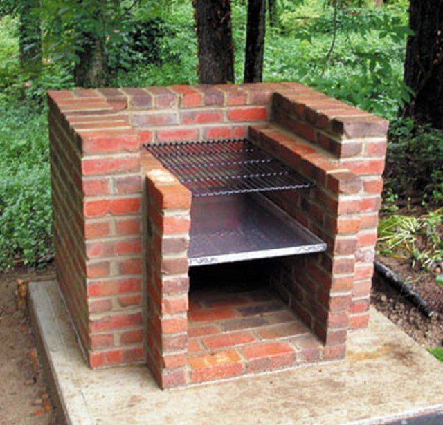 how to build a brick barbecue for your backyard icreatived. Black Bedroom Furniture Sets. Home Design Ideas