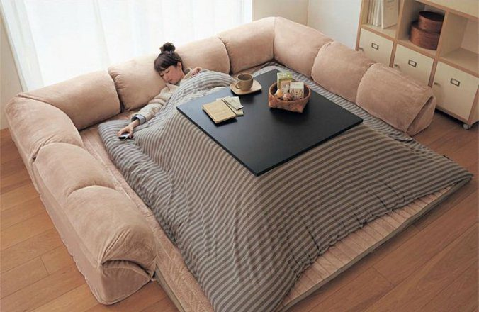 The kotatsu, An Ingenious Japanese Table That Offers The Comfort Of Giant Warm Bed 1