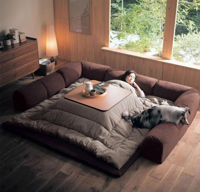 The kotatsu, An Ingenious Japanese Table That Offers The Comfort Of Giant Warm Bed 3