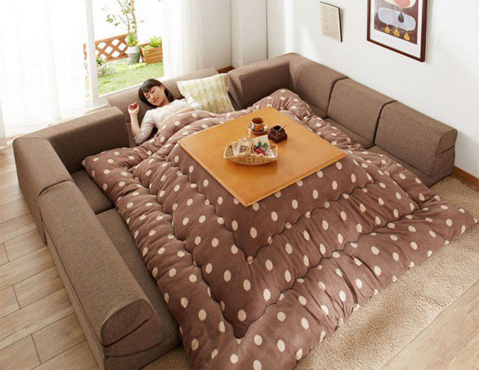 The kotatsu, An Ingenious Japanese Table That Offers The Comfort Of Giant Warm Bed 4