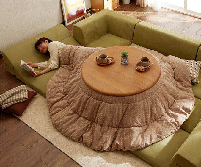 The kotatsu, An Ingenious Japanese Table That Offers The Comfort Of Giant Warm Bed 5