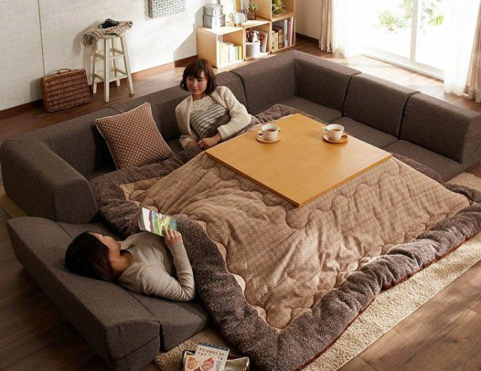 The kotatsu, An Ingenious Japanese Table That Offers The Comfort Of Giant Warm Bed 6