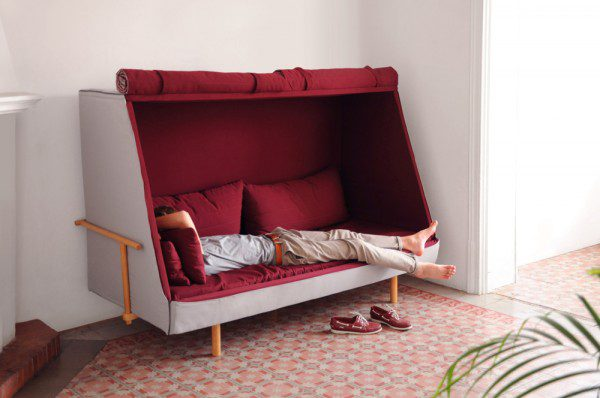 A Sofa That Becomes a Fortress to Let You Sleep in Complete Privacy 1