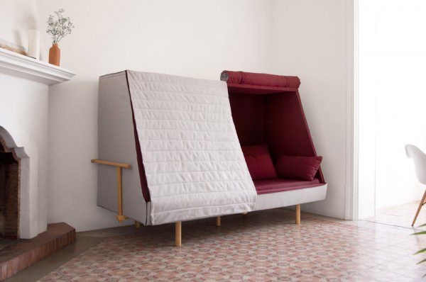 A Sofa That Becomes a Fortress to Let You Sleep in Complete Privacy 4