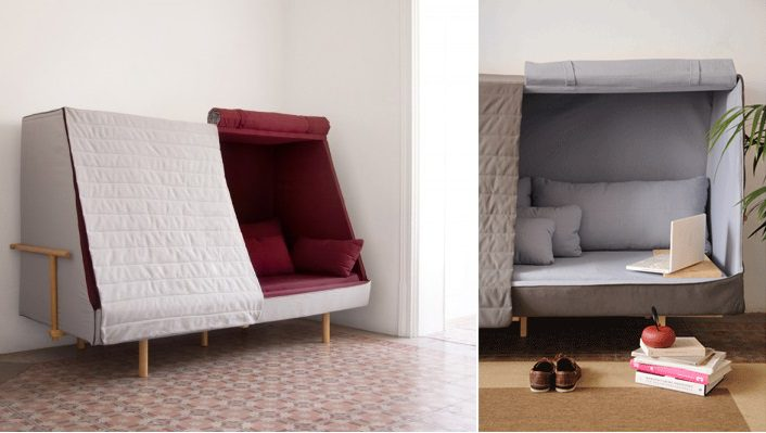 A Sofa That Becomes a Fortress to Let You Sleep in  : A Sofa That Becomes a Fortress to Let You Sleep in Complete Privacy from icreatived.com size 706 x 399 jpeg 72kB