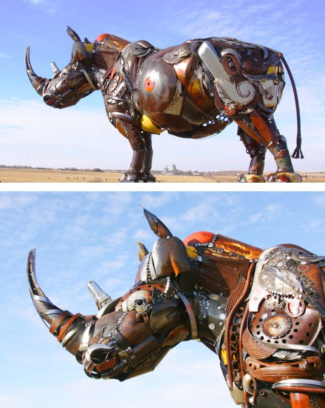 Amazing Sculptures Out of Old Farm Tools 12
