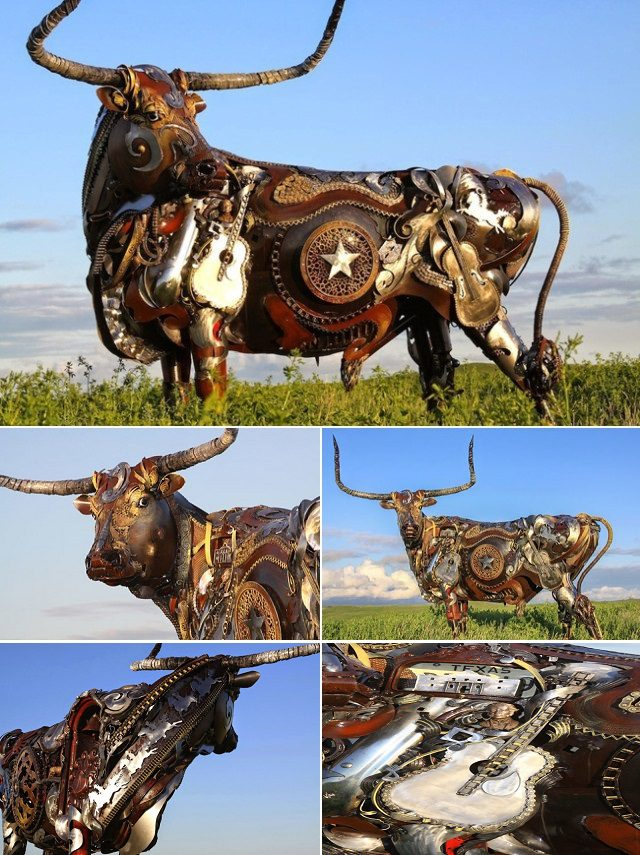 Amazing Sculptures Out of Old Farm Tools 3