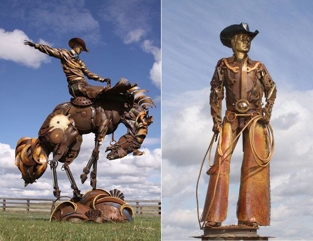 Amazing Sculptures Out of Old Farm Tools 4