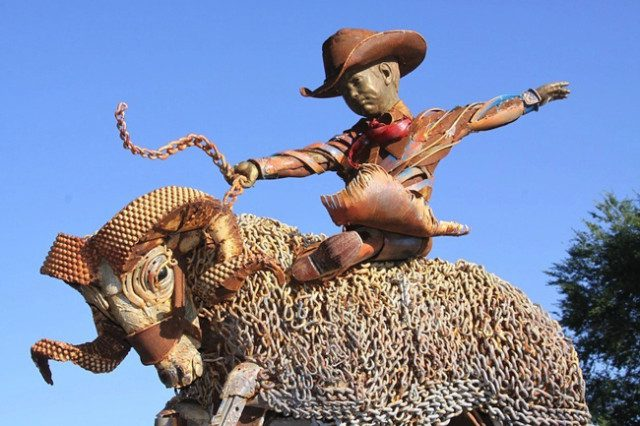 Amazing Sculptures Out of Old Farm Tools 5