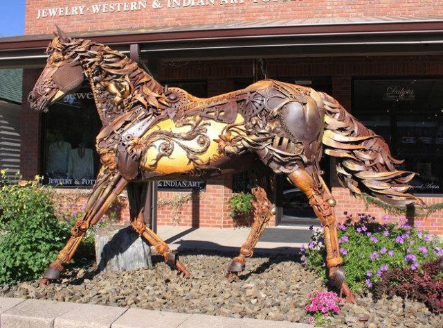 Amazing Sculptures Out of Old Farm Tools 6