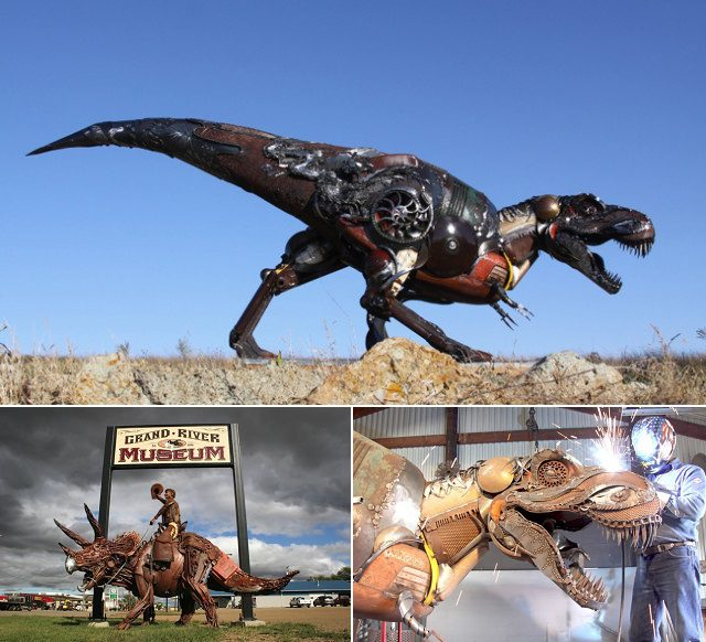 Amazing Sculptures Out of Old Farm Tools 7