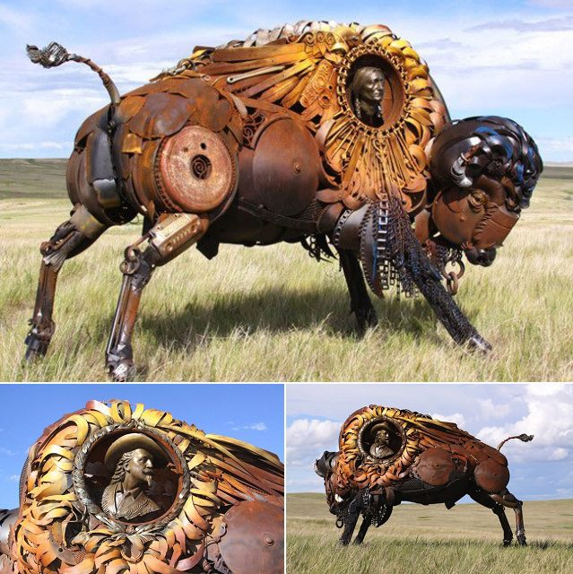 Amazing Sculptures Out of Old Farm Tools 8