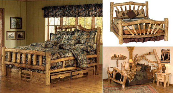 bedroom alloworigin in bed disposition log canopy queen furniture accesskeyid amish aspen