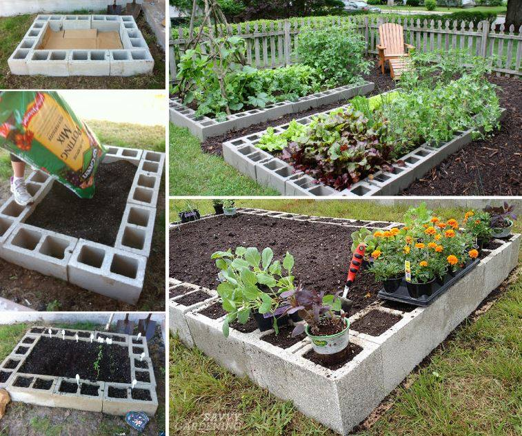 How To Make A Raised Bed Garden Out Of Cinder Blocks