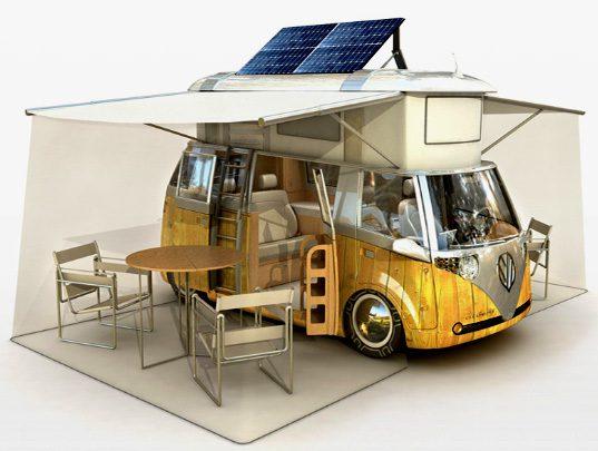 VW Verdier's Concept Stylish Solar-Powered Eco Camper 2