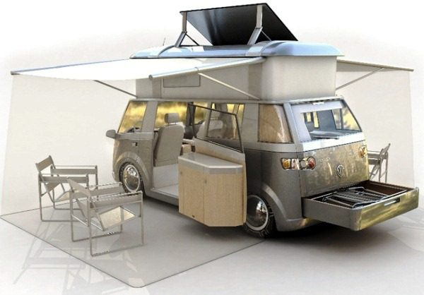 VW Verdier's Concept Stylish Solar-Powered Eco Camper 3
