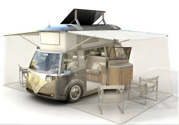 VW Verdier's Concept Stylish Solar-Powered Eco Camper 4