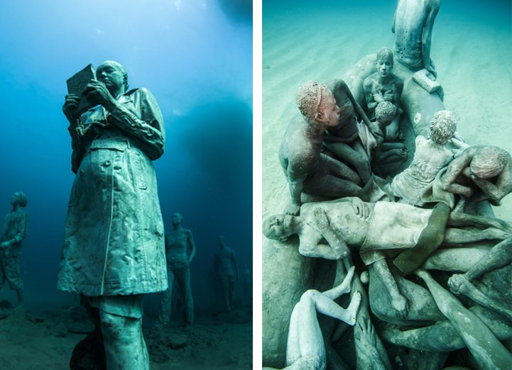 Hyperrealistic Human Sculptures Submerged in Europe's First Underwater Art Museum 4