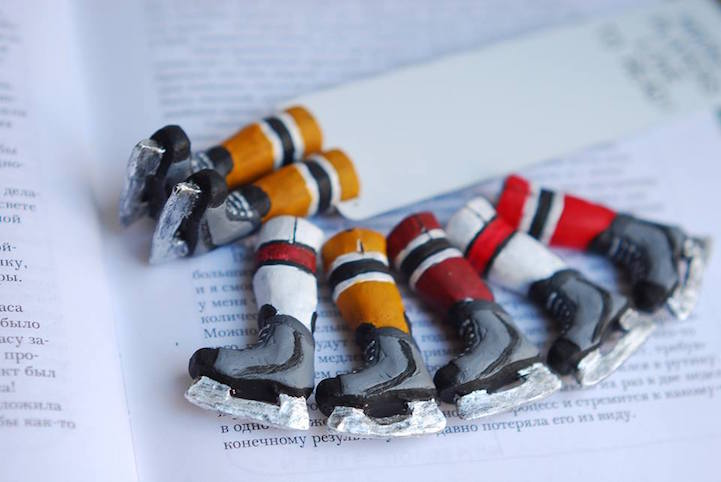 Quirky Bookmarks Look Like Tiny Legs of Literary Characters Sticking Out Between Pages 15