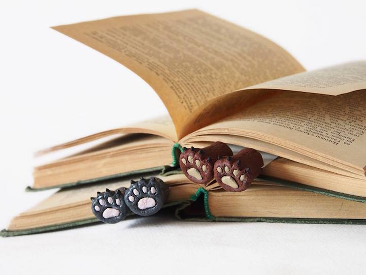 Quirky Bookmarks Look Like Tiny Legs of Literary Characters Sticking Out Between Pages 9