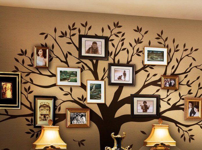 Amazing family tree ideas icreatived for Family tree picture wall ideas