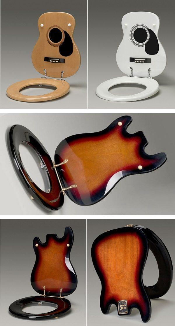 Stupendous Bathroom Ideas For Music Lovers Guitar Toilet Seats Machost Co Dining Chair Design Ideas Machostcouk