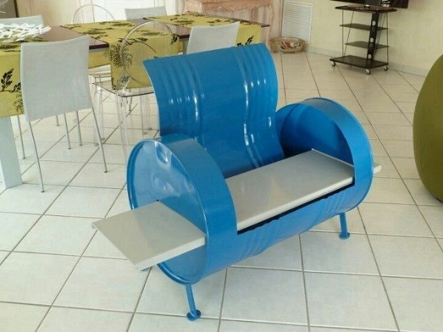 55 gallon metal drum project ideas icreatived. Black Bedroom Furniture Sets. Home Design Ideas