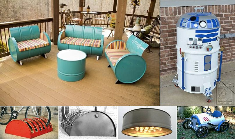 55 Gallon Metal Drum Project Ideas
