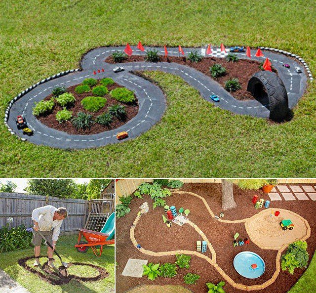 Diy Race Car Track Backyard Projects For Kids Icreatived