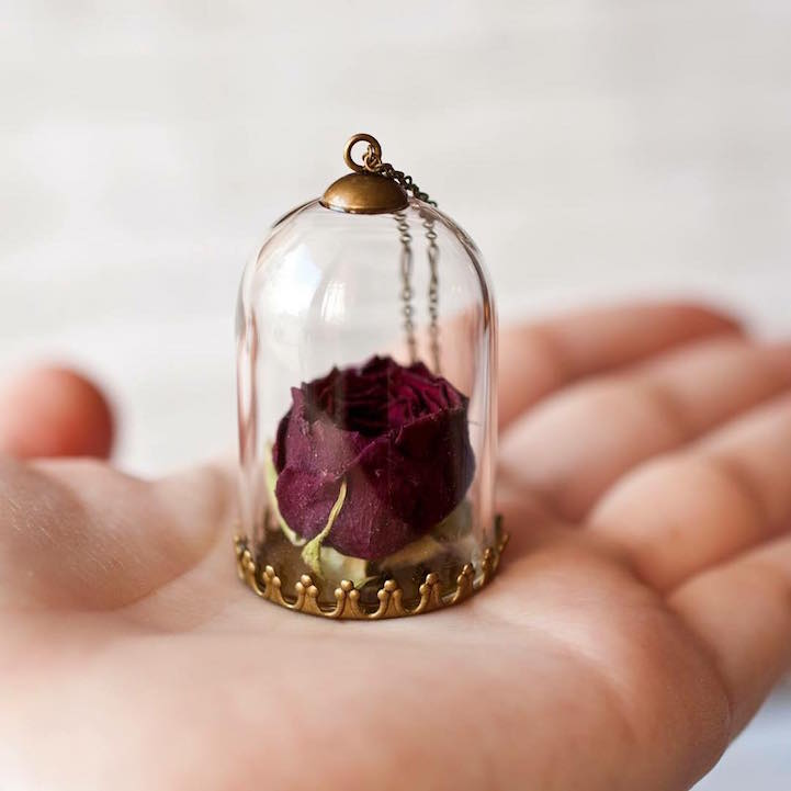 Charming Necklace Preserve Flowers In Pendants Icreatived