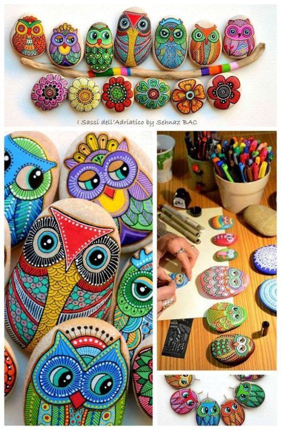 Живописные камни ручной работы