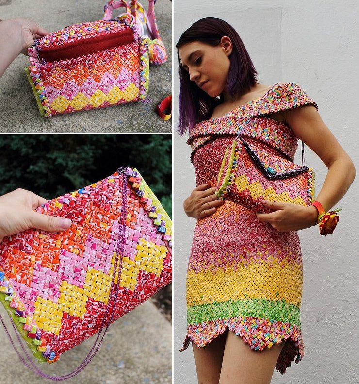 Sweet Dress Made Of 10 000 Candy Wrappers Icreatived