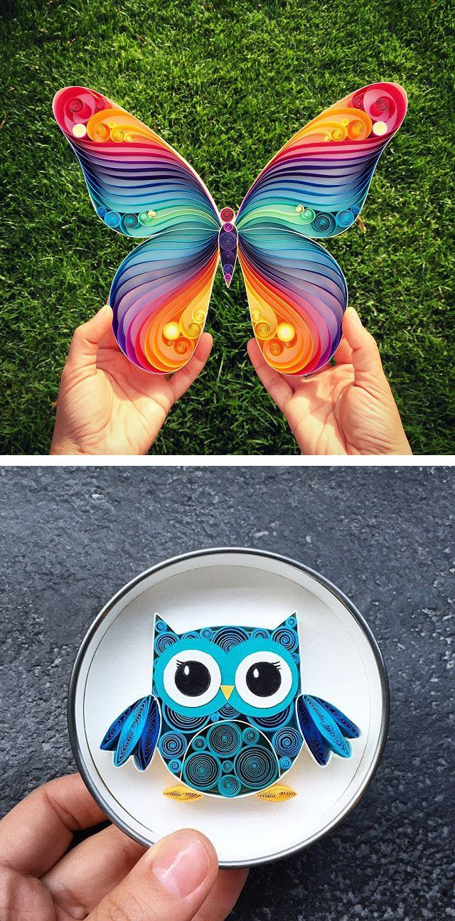 Amazing 3D Quilled Paper Art