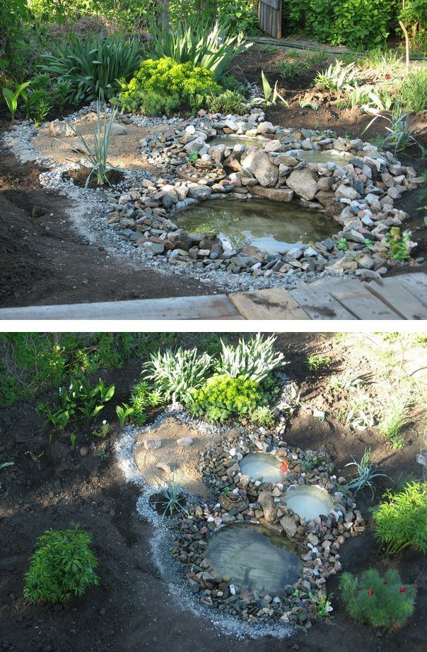 How to Build Relaxing Pond in Your Garden From Recycled Tires