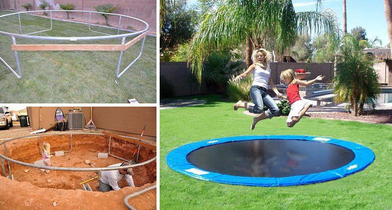 DIY Inground Trampoline - iCreatived