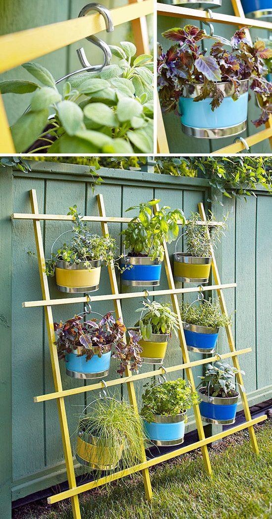 Repurposed Trellis Vertical Garden