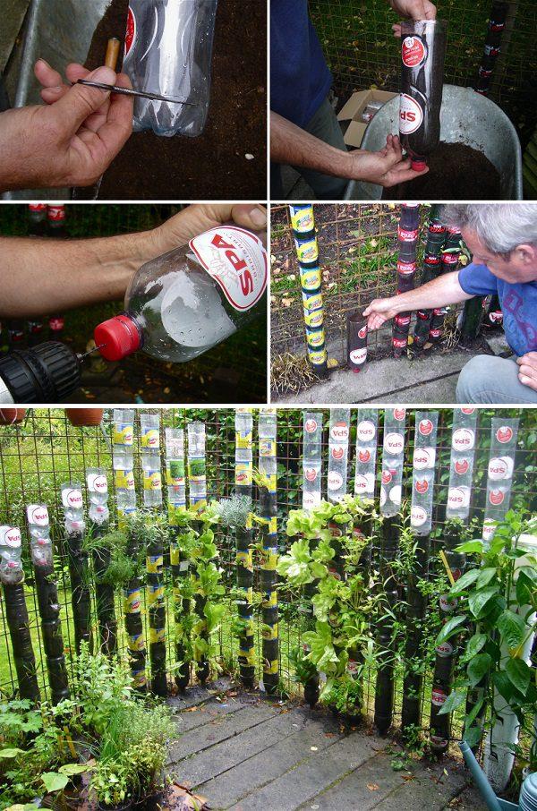 Build a Bottle Tower Garden