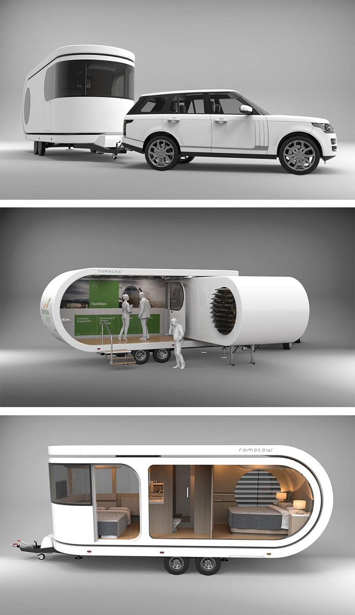 This Futuristic Camper Van Extends To Reveal Fascinating