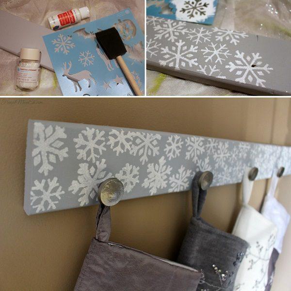 DIY Snowflake Christmas Stocking Holder