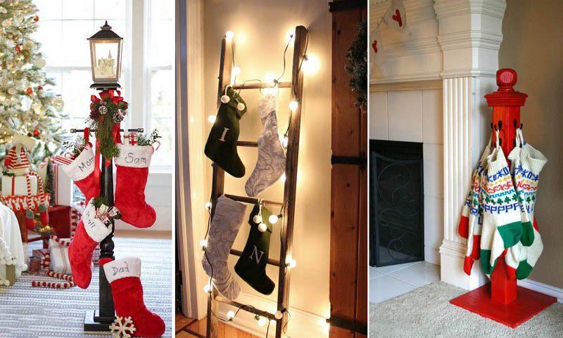 25+ DIY Christmas Stocking Holder Ideas