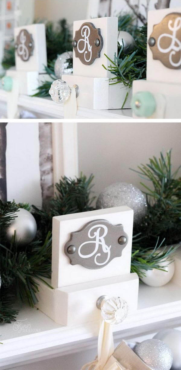 25 Diy Christmas Stocking Holder Ideas Icreatived