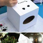 8. Tissue Box DIY Snowman Craft