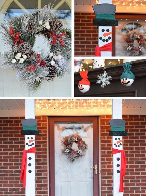 Snowman Porch Decorations