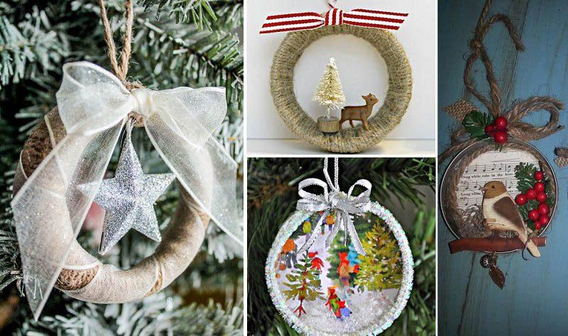 Simple and Festive Mason Jar lid Ornaments for Christmas Decoration