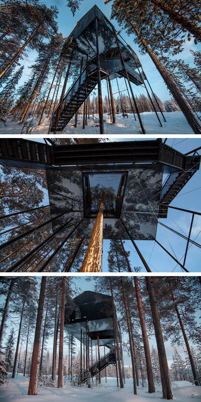 Amazing TreeHotel Lets You Sleep in the Treetops of Sweden